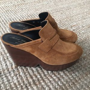 Robert Clergerie Chunky Wooden Mules 9